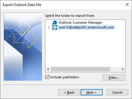 Export Outlook Data file to OST to PST