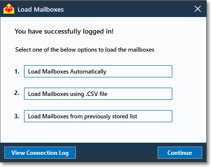Load mailboxes